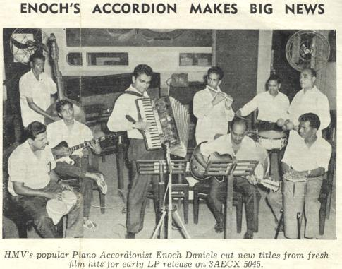 Photograph from the recording session of this album